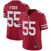 Wholesale Cheap Nike 49ers #55 Dee Ford Red Team Color Men's Stitched NFL Vapor Untouchable Limited Jersey