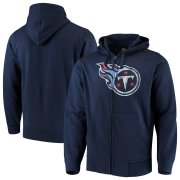 Wholesale Cheap Tennessee Titans G-III Sports by Carl Banks Primary Logo Full-Zip Hoodie Navy