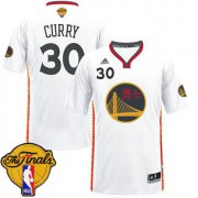 Wholesale Cheap Men's Warriors #30 Stephen Curry White 2017 Chinese New Year The Finals Patch Stitched NBA Jersey
