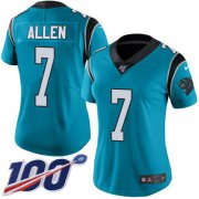 Wholesale Cheap Nike Panthers #7 Kyle Allen Blue Alternate Women's Stitched NFL 100th Season Vapor Limited Jersey