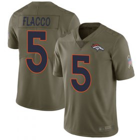 Wholesale Cheap Nike Broncos #5 Joe Flacco Olive Men\'s Stitched NFL Limited 2017 Salute To Service Jersey