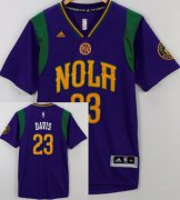 Wholesale Cheap Men's New Orleans Pelicans #23 Anthony Davis Revolution 30 Swingman 2015-16 Purple Short-Sleeved Jersey