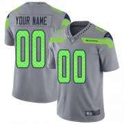 Wholesale Cheap Nike Seattle Seahawks Customized Gray Men's Stitched NFL Limited Inverted Legend Jersey