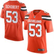 Wholesale Cheap Nike Browns #53 Joe Schobert Orange Alternate Men's Stitched NFL New Elite Jersey