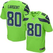 Wholesale Cheap Nike Seahawks #80 Steve Largent Green Men's Stitched NFL Elite Rush Jersey