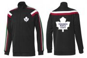 Wholesale NHL Toronto Maple Leafs Zip Jackets Black-2