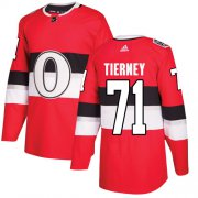 Wholesale Cheap Adidas Senators #71 Chris Tierney Red Authentic 2017 100 Classic Stitched NHL Jersey