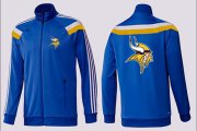 Wholesale Cheap NFL Minnesota Vikings Team Logo Jacket Blue_3