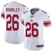 Wholesale Cheap Nike Giants #26 Saquon Barkley White Women's Stitched NFL Vapor Untouchable Limited Jersey