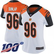 Wholesale Cheap Nike Bengals #96 Carlos Dunlap White Women's Stitched NFL 100th Season Vapor Limited Jersey