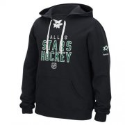 Wholesale Cheap Dallas Stars Reebok Stitch Em Up Lace Hoodie Black