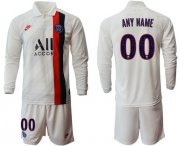 Wholesale Cheap Paris Saint-Germain Personalized Away Long Sleeves Soccer Club Jersey