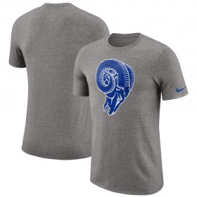 Wholesale Cheap Los Angeles Rams Nike Marled Historic Logo Performance T-Shirt Heathered Gray