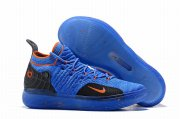 Wholesale Cheap Nike KD 11 Black Blue Tangerine