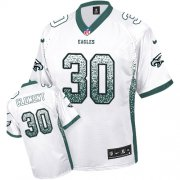 Wholesale Cheap Nike Eagles #30 Corey Clement White Men's Stitched NFL Elite Drift Fashion Jersey