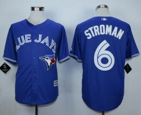 Wholesale Cheap Blue Jays #6 Marcus Stroman Blue New Cool Base Stitched MLB Jersey