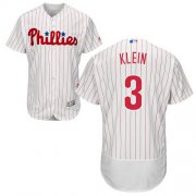 Wholesale Cheap Phillies #3 Chuck Klein White(Red Strip) Flexbase Authentic Collection Stitched MLB Jersey