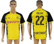 Wholesale Cheap Dortmund #22 Pulisic Yellow Soccer Club Jersey