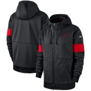 Wholesale Cheap Atlanta Falcons Nike Sideline Performance Full-Zip Hoodie Black