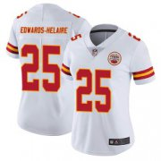Wholesale Cheap Women's Nike Kansas City Chiefs #25 Clyde Edwards-Helaire Limited White Vapor Untouchable Jersey