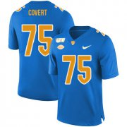 Wholesale Cheap Pittsburgh Panthers 75 Jimbo Covert Blue 150th Anniversary Patch Nike College Football Jersey