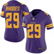 Wholesale Cheap Nike Vikings #29 Xavier Rhodes Purple Women's Stitched NFL Limited Rush Jersey