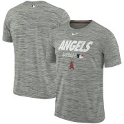 Wholesale Cheap Los Angeles Angels Nike Authentic Collection Velocity Team Issue Performance T-Shirt Gray