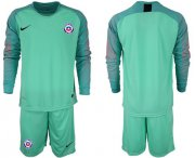 Wholesale Cheap Chile Blank Green Goalkeeper Long Sleeves Soccer Country Jersey