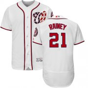 Wholesale Cheap Nationals #21 Tanner Rainey White Flexbase Authentic Collection Stitched MLB Jersey