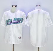 Wholesale Diamondbacks Blank White 1999 Turn Back The Clock Stitched Baseball Jersey