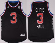 Wholesale Cheap 2015 NBA Western All-Stars #3 Chris Paul Revolution 30 Swingman Black Jersey