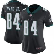 Wholesale Cheap Nike Eagles #84 Greg Ward Jr. Black Alternate Women's Stitched NFL Vapor Untouchable Limited Jersey