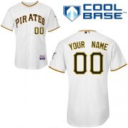Wholesale Cheap Pirates Customized Authentic White Cool Base MLB Jersey (S-3XL)