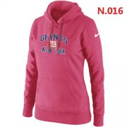 Wholesale Cheap Women's Nike New York Giants Heart & Soul Pullover Hoodie Pink