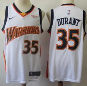 Wholesale Cheap Warriors #35 Kevin Durant White Throwback Basketball Swingman Hardwood Classics 2009-10 Jersey