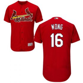 Wholesale Cheap Cardinals #16 Kolten Wong Red Flexbase Authentic Collection Stitched MLB Jersey