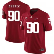 Wholesale Cheap Washington State Cougars 90 Daniel Ekuale Red College Football Jersey