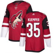 Wholesale Cheap Adidas Coyotes #35 Darcy Kuemper Maroon Home Authentic Stitched NHL Jersey