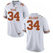 Wholesale Cheap Men's Texas Longhorns 34 Ricky Williams White Nike College Jersey