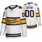 Wholesale Cheap Adidas Predators Custom Men's White 2020 Winter Classic Retro Authentic NHL Jersey