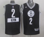 Wholesale Cheap Brooklyn Nets #2 Kevin Garnett Revolution 30 Swingman 2014 Christmas Day Black Jersey