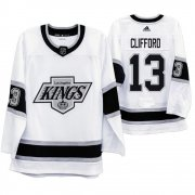 Wholesale Cheap Los Angeles Kings #13 Kyle Clifford Men's Adidas 2019-20 Heritage White Throwback 90s NHL Jersey