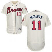 Wholesale Cheap Braves #11 Ender Inciarte Cream Flexbase Authentic Collection Stitched MLB Jersey