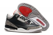 Wholesale Cheap Air Jordan 3 Black Cement Restocked Black/Cement-Red-White