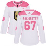 Wholesale Cheap Adidas Golden Knights #67 Max Pacioretty White/Pink Authentic Fashion Women's Stitched NHL Jersey