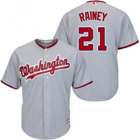 Wholesale Cheap Nationals #21 Tanner Rainey Grey New Cool Base Stitched MLB Jersey