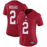 Wholesale Cheap Nike Giants #2 Aldrick Rosas Red Alternate Women's Stitched NFL Vapor Untouchable Limited Jersey