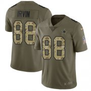 Wholesale Cheap Nike Cowboys #88 Michael Irvin Olive/Camo Men's Stitched NFL Limited 2017 Salute To Service Jersey