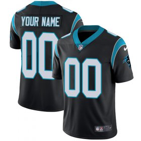 Wholesale Cheap Nike Carolina Panthers Customized Black Team Color Stitched Vapor Untouchable Limited Men\'s NFL Jersey