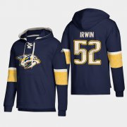 Wholesale Cheap Nashville Predators #52 Matt Irwin Navy adidas Lace-Up Pullover Hoodie
